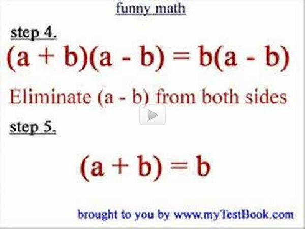 2=1 -=- A Fun Math Proof