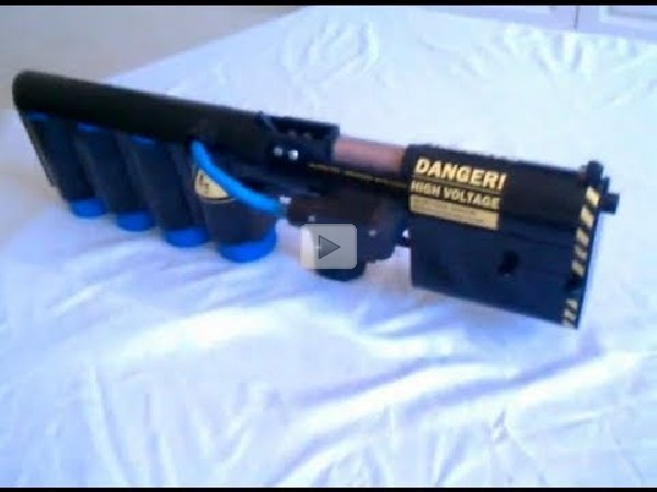 A DIY Rail Gun! 1 25kJ Homemade Magnetic Coilgun