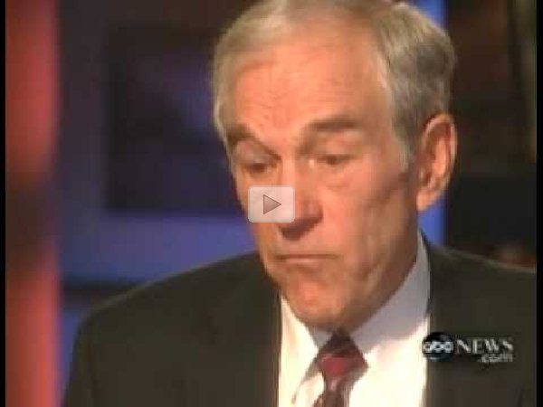 abc news interview ron paul on the role of government