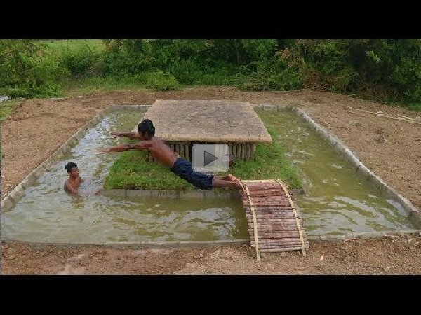 Building A Swimming Pool Around Underground Primitive House