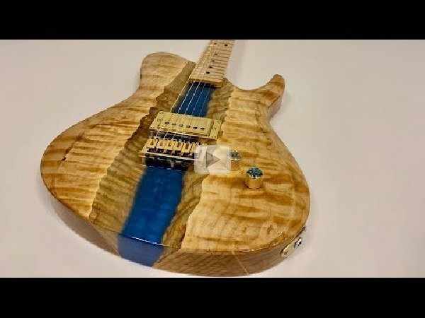 Burl's Art Builds an Epoxy Resin River Guitar