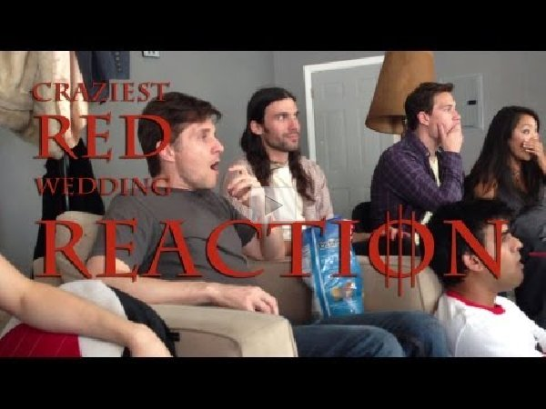 Red Wedding Reaction.Craziest Red Wedding Reaction Video