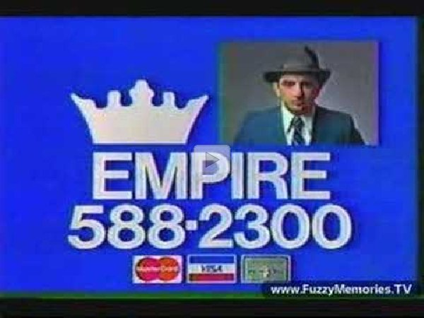 empire carpets commercial with son of svengoolie 1984