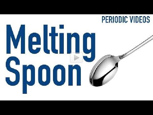 Melting spoon in tea periodic table of videos 1306 views urtaz Images