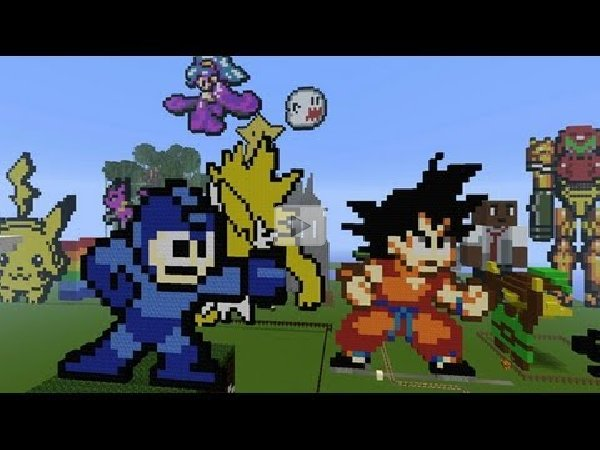 Minecraft 3d Pixel Art Land