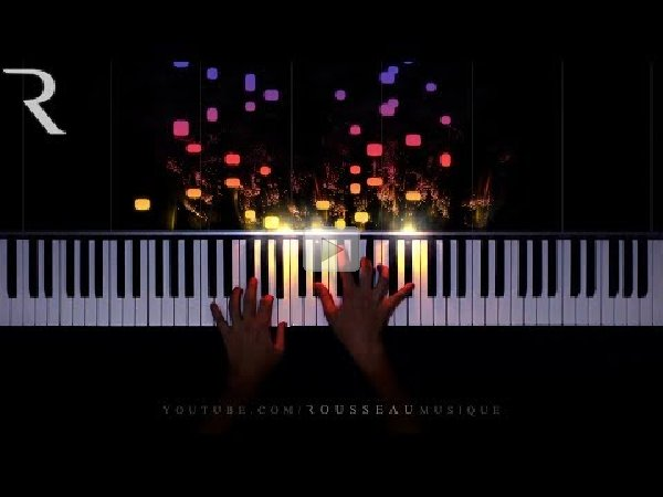 Piano with reactive visualizer