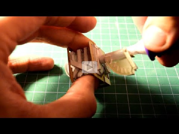 Working Miniature V8 Paper Engine